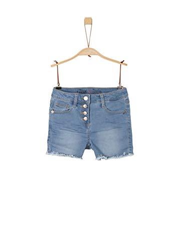 s.Oliver Mädchen 66.904.72.2047 Hose, Blau (Blue Denim Stretch 53z7), 152 (Herstellergröße: 152/BIG) - Mädchen Jeansshorts