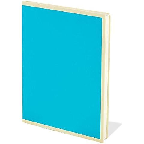 Blocco di carta, formato A6, 100 fogli, colore: Turchese, carta non patinata, né spalmata, colore: bianco, stile SKETCH- e bloc-notes con strappo integrato e pagine prodotto da Semikolon