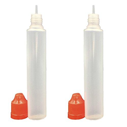 30ml x 5 Pack LDPE Plastikware Leere Squeezable Dropper Liquid Einhorn Stift Flaschen Pipette mit Plastik Abdeckung Stopper Bottles(Flasche + Orange Kappe + Spitze)