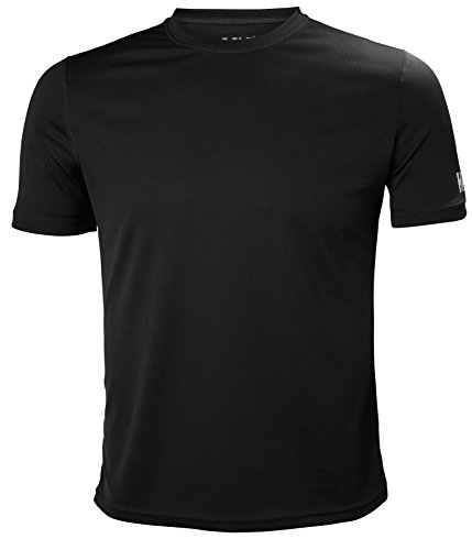Helly Hansen HH Tech T Camiseta, Hombre, Gris (Gris Oscuro 980), Large (Tamaño del Fabricante:L)