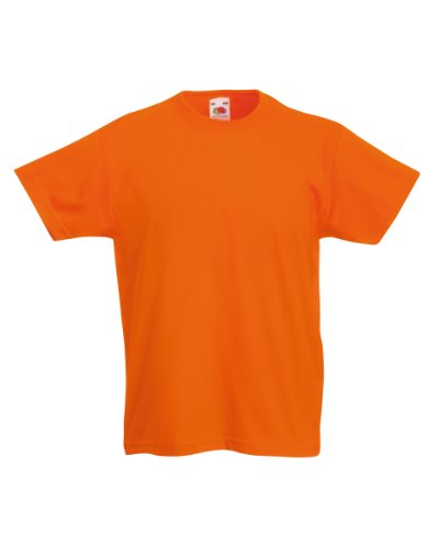 Fruit of the Loom Kinder T-Shirt Valueweight T Kids 61-033-0 Orange 116 (5-6)
