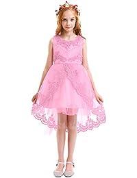 b89c2becfc68 Vestito Floreale Bambino Ragazza Festa di Carnevale Principessa Damigella  d Onore Pageant Toga Compleanno Bambina
