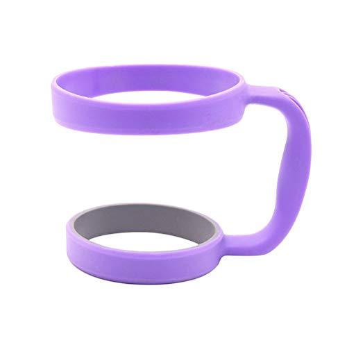 BESTONZON 30-oz-Trommelgriff, leicht, verschüttungssicherer Griff für Edelstahlgläser, Reise-Wasser-Kaffeetassen oder Flasche (lila)