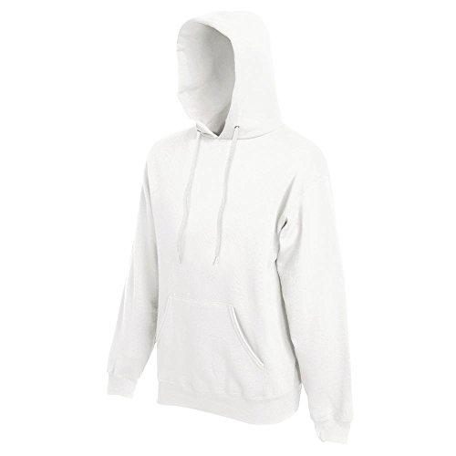 Fruit of the Loom - Kapuzen-Sweatshirt 'Hooded Sweat' XL,White (Pullover Weißer)