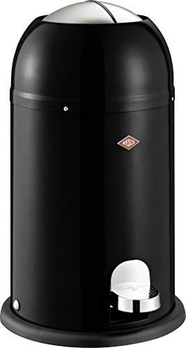 Wesco 180 312 Kickmaster Junior Abfallsammler 12 Liter schwarz 30 x 30 x 51cm (L/B/H), Edelstahl
