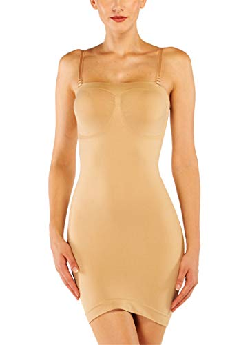 Franato Women Control Slip Body Shaper Firm Smooth Slim Full Shapewear Under Dress Nylon Full Slip