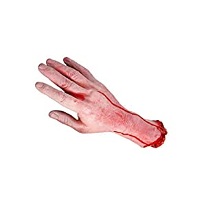 JRXyDfxn 1 Pc Bloody Halloween Prop Simulated Body Parts Scary Organ Haunted House Decorations Prop Medium Left
