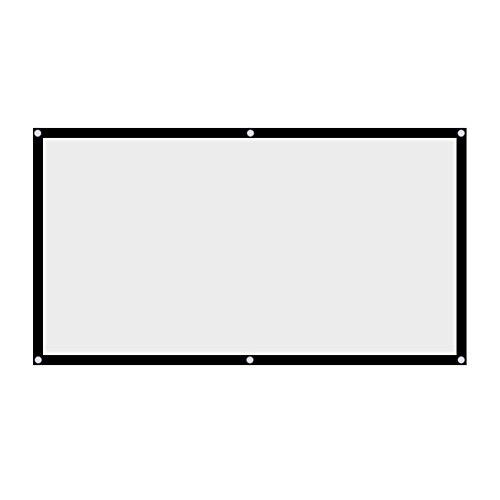 60 '' / 72 '' / 84 '' / 100 '' 120 '' Inch Projektor Leinwand 16: 9 HD 4K Tragbare Faltbare Projektion Leinwand mit Schwarzem Kanten und Hängenden Löchern für Heimkino, Open Air Kino usw.(120 inch)
