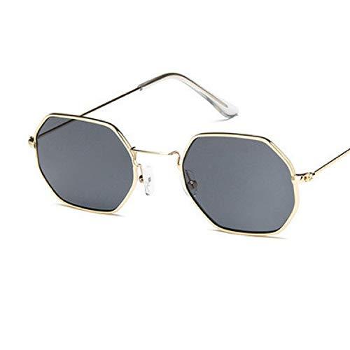 GJYANJING Sonnenbrille Europäischen Und Amerikanischen Stil Sonnenbrille Luxus Unregelmäßigen Polygon Kleinen Rahmen Männer Frauen Marke Brille Mode Männlich Weiblich Uv400
