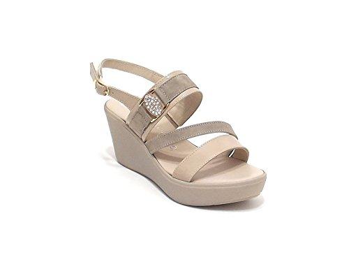 Susimoda scarpa donna, modello sandalo 234740, in camoscio, colore beige
