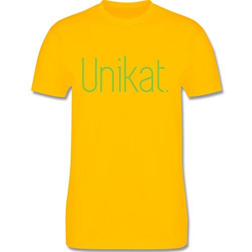 Statement Shirts - Unikat - Herren Premium T-Shirt Gelb