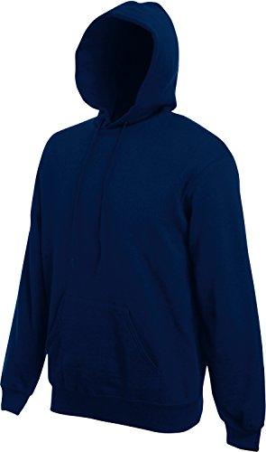 Fruit of the Loom Herren Kapuzen-Pullover, einfarbig, ohne Logo - Blau - Marineblau - Größe L L,Blau - Marineblau