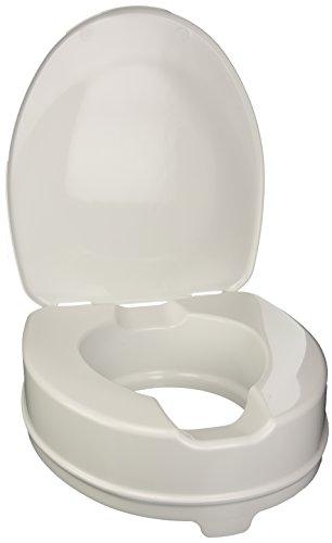 WC Sitzerhöhung mit System-Kit + Deckel, Toilettensitzerhöhung 10cm