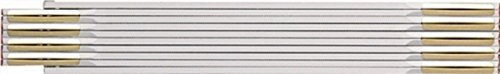 BMI Holzgliedermaßstab aus Buchenholz, Gliederstärke 3 mm, 1 Stück, weiß, 980904200