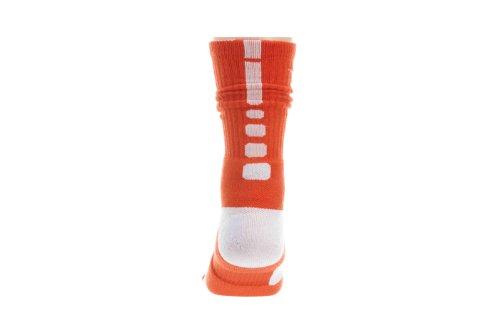 Nike Crew Socks Hyperelite Basketball Team Orange/White/White