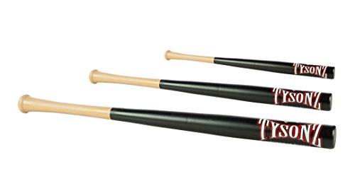 Tysonz Mazza da baseball in legno duro, qualità BB, nero, 81,2 cm