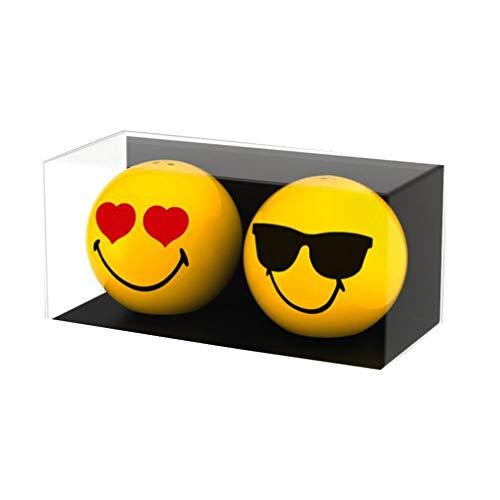zak! Salz-/Pfefferstreuer Smiley-Liebe/Sonnenbrille 2 Stück, Porzellan, Mehrfarbig, 6 x 6 x 5.5 cm, 2-Einheiten