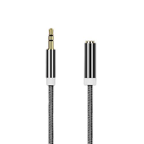 YOUHONG® Audio-Zusatz-Stereo-Erweiterungs-Audiokabel 3,5-mm-Stereo-Klinkenstecker an Buchse, Klinkenbuchse für Telefone, Kopfhörer, Lautsprecher, Tablets, PCs, MP3-Player und vieles mehr