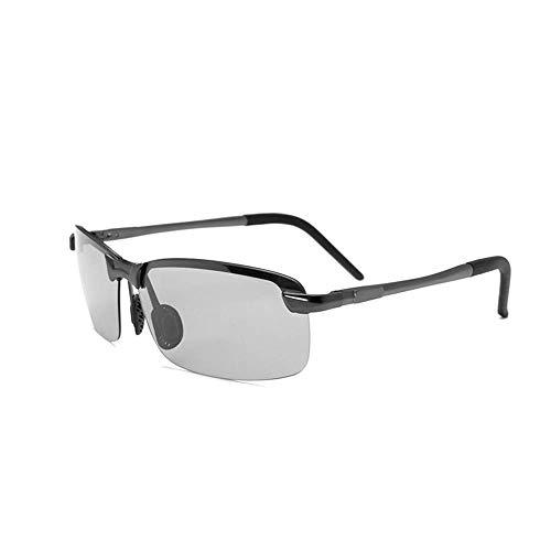 KoKoBin Unisex polarisierte Sonnenbrille aus Metallrahmen Sportbrille Fahrerbrille Schwarz