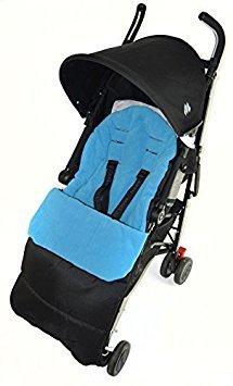 Saco/Cosy Toes Compatible con Maclaren Globetrotter carrito de bebé, color azul