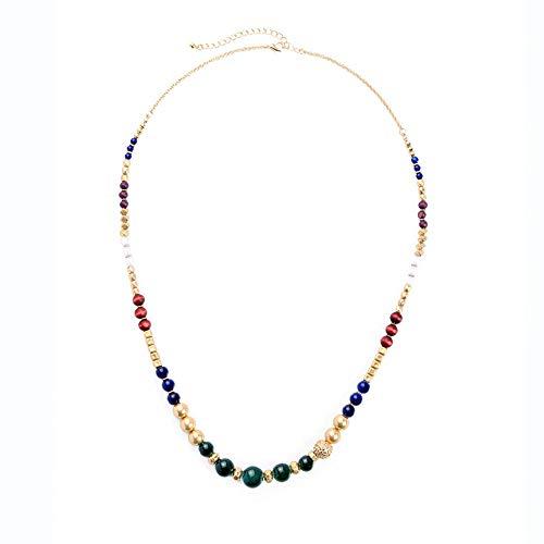 WY-EHSP Lange Strickjacke-Kette der geometrischen Perlen-Halsketten-Frauen Wilde