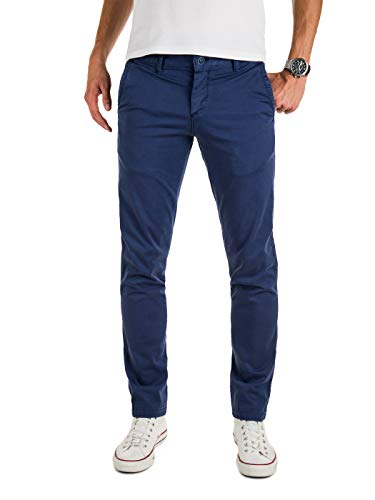 Yazubi Herren Chinohose Regular Fit - Modell Malphite by Yzb Jeans - Chino Navy - Blaue Chinohosen Stretch, Blau (Estate Blue 194027), W32/L32