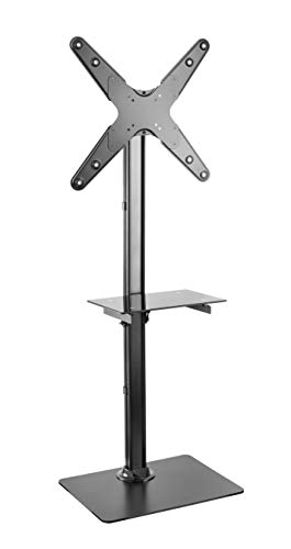 """Rife Portable Floor Stand Height Adjustable Mount for Flat Panel LED LCD Plasma Screen Mount fits 13"""" to 55"""" Screens"""