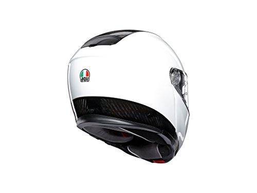 AGV Sports Modular Pianura Carbonio Bianca Motociclo Casco