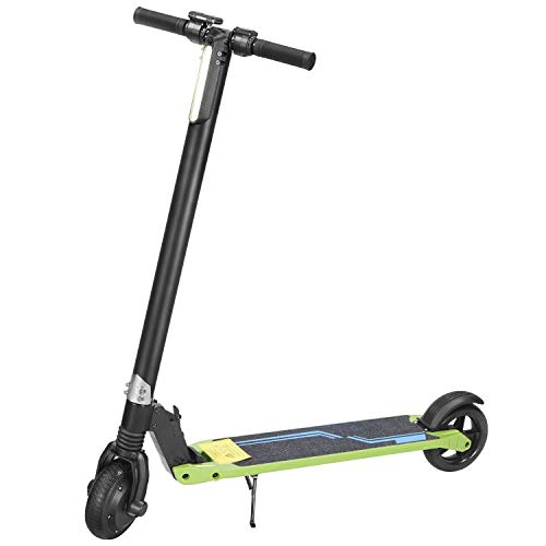 Elektro Scooter City Elektroscooter mit 20 Km/h Geschwindigkeit, Faltbarer E-Scooter mit LED-Licht und LCD-Anzeige, 36V Li-Ion Akku, City E-Roller Erwachsene und Kinder (Grün)