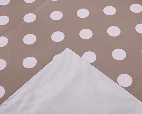 Vinylla. Mantel de PVC para mesa de fácil limpieza, diseño de lunares, color marrón, pvc, marrón, Round(Dia.178cm)