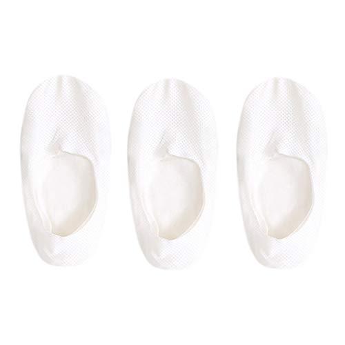 Happy event Atmungsaktive Ice Silk Socken Mens und womenFashion Cotton Ice Silk weiche Rutschfeste dünne Sport Set von 3 Stück Sommer Socke Rutschfeste (Weiß) - Weiß Trackball
