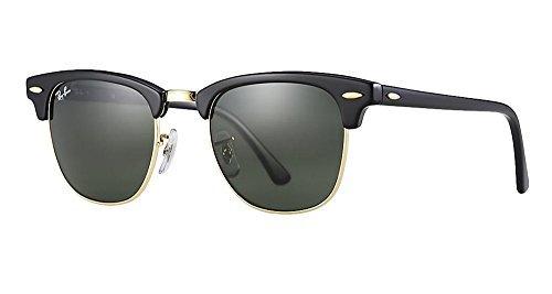 239b661d7f Ray-Ban Rb3016 Club Master Gafas de sol 51 mm Solid Black G15 Lens 51
