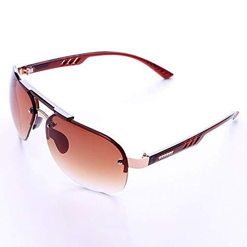 Zhuotop randlose Sonnenbrille Mode verspiegelt Eyewear Persönlichkeit Brille Herren Fahren Sonnenbrille Grau, Double-Tea (Sonnenbrille Herren-coach)