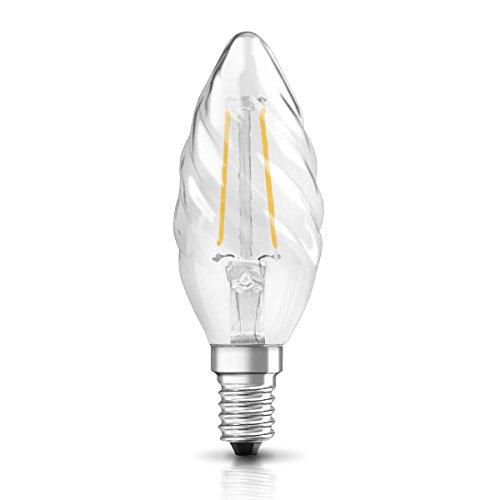 Osram LED Star Classic BW Lampe, in Kerzenform mit E14-Sockel, nicht dimmbar, Ersetzt 25 Watt, Filamentstil Klar, Warmweiß - 2700 Kelvin, 1er-Pack