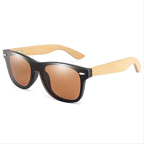MJDL Vintage Bambus Holzrahmen Männer Frauen Sonnenbrillen Mode Spiegel Beschichtung Sonnenbrille Shades Eyewear Uv400 05