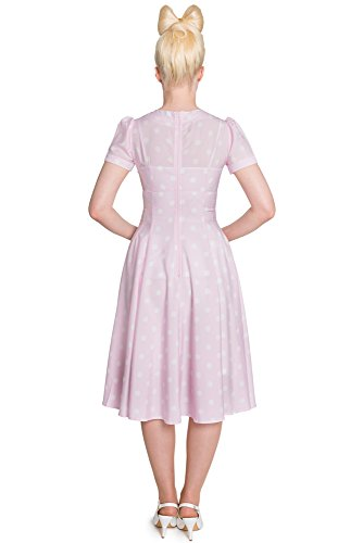 Hell Bunny Kleid MADDEN DRESS pink-white Pink-White