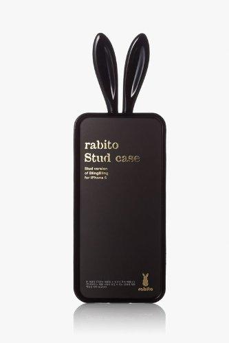 Rabito RB7000B Premium Coque Housse Etui pour Smartphone Téléphone portable Apple iPhone 5/5S Or Noir