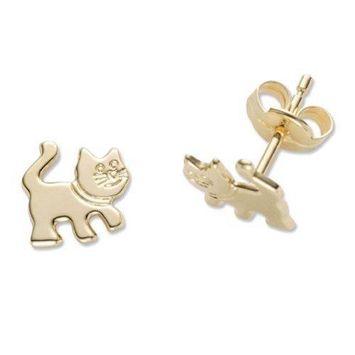 Miore Ohrringe Kinder Mädchen Gelbgold 18 Karat / 750 Gold Ohrstecker mit Katze