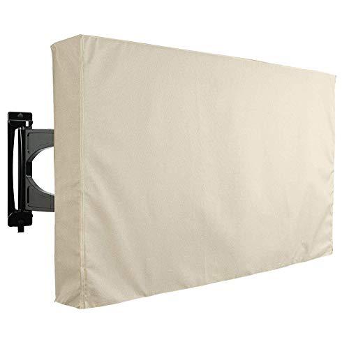 Abdeckung für Gartenmöbel TV-Abdeckung, wetterfestes Universalgehäuse für den Außenbereich, Schutzfolie für 22-65-Zoll-LCD- / LED- / Plasma-Fernseher - Beige (Size : 46-48)