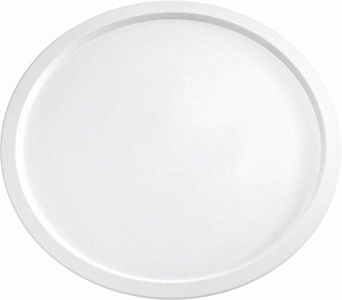 Preisvergleich Produktbild APS Servierplatte -PURE- Durchmesser 38 cm, H: 2 cm Melamin, weiß spülmaschinenfest nicht mikrowellengeeignet