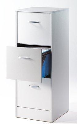 Simmob-MATHA413AL-Classeur-de-3-Tiroirs-pour-Dossiers-Suspendus-Bois-Aluminium-44-x-414-x-1084-cm