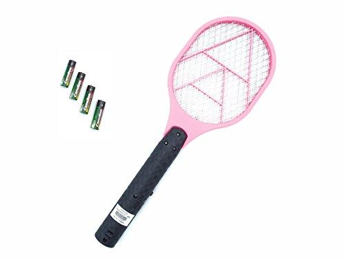 makalu Elektrischer Fliegenfänger Fliegenklatsche Mückenklatsche mit Batterien Sofort einsatzbereit Verschiedene Farben und Abpackungen