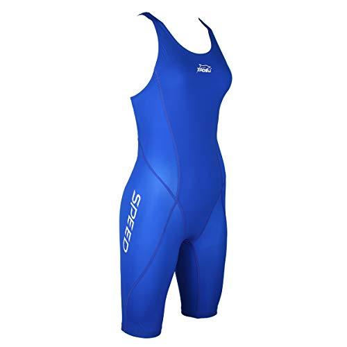 ZAOSU Wettkampf-Schwimmanzug Z-Speed für Damen & Mädchen | Premium Badeanzug mit hoher Kompression für schnelle Schwimmzeiten, Farbe:blau, Größe:164