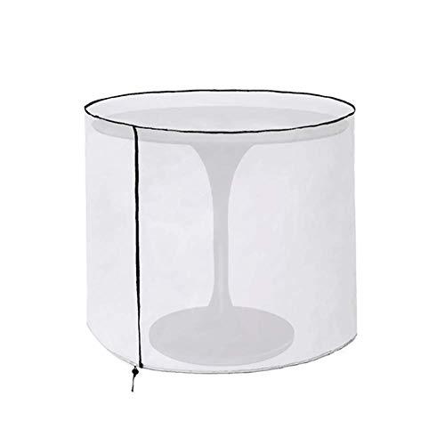 QEES Funda para mesa de jardín, cubierta redonda para mesa de patio, 29.9 pulgadas de diámetro x 33.8...