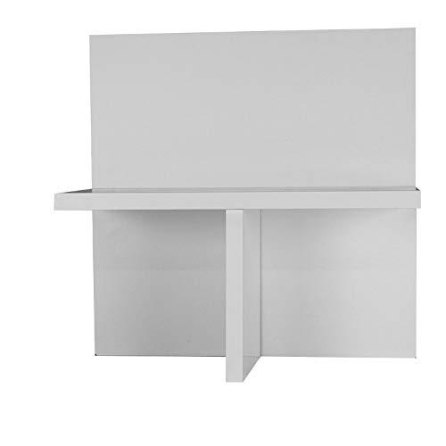 HKF Anne IKEA Kallax Expedit Regal CD Einsatz Regalkreuz Fach Fachteiler für 60 CDs Rückwand gegen Durchrutschen CD-Regal Aufbewahrung Regaleinsatz 33,5 x 33,5 x 16 cm flach weiß