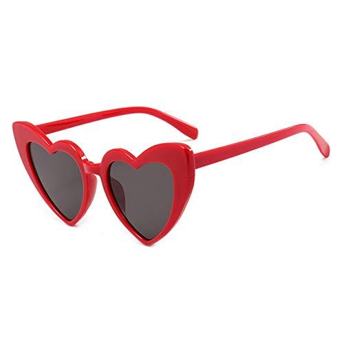 Prima05Sally Mode herzförmige Brillen Sonnenbrillen Mode Mod Design für Frauen Retro-Brille für Teenager-Mädchen UV-Schutz