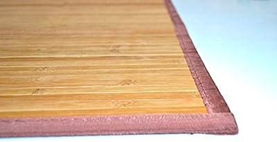 Bertha Hogar- Alfombra Bambú kanda, 60 x 90 cm , color marrón