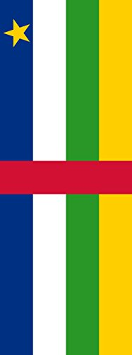 magFlags Flagge: Zentralafrikanische Republik | Hochformat Fahne | 6m² | 400x150cm » Fahne 100% Made in Germany