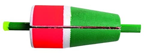 Betts 80W-2RG Billy Boy Bobbers 2-Inch Popping Slotted Weighted Hard Foam Float, Red and Green Finish by BILLY