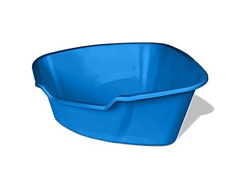 Van Ness Corner High Sides Cat Litter Pan, Large, Blue by Van Ness